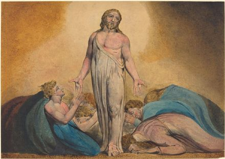 Blake, William: Christ Appearing to His Disciples After the Resurrection. Fine Art Print/Poster. Sizes: A4/A3/A2/A1 (003552)